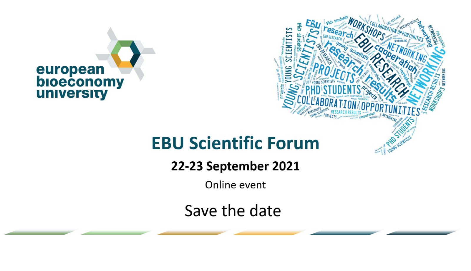 EBU Scientific Forum – Save the date