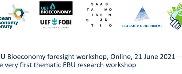 EBU Alliance Initiates Research Collaboration: an Online Workshop Discussed Bioeconomy Foresight